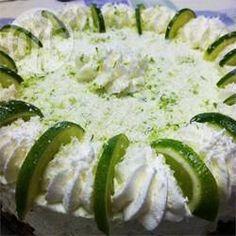 Torta de chocolate branco com limão @ allrecipes.com.br