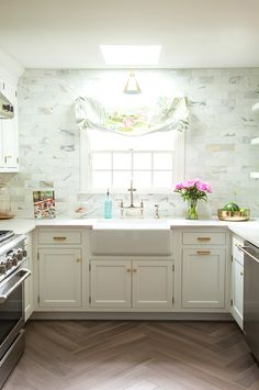 Kitchen Makeover: One Room Challenge Week 1 - Vanessa Francis Interior Design Interior Design Kitchen, Kitchen Decor, Kitchen Ideas, Kitchen Stuff, Kitchen Backsplash, Kitchen Cabinets, Kitchen Taps, Kitchen Fixtures, White Cabinets