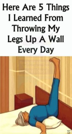 Here Are 5 Things I Learned From Throwing My Legs Up A Wall Every Day !!!.. Healthy Beauty, Healthy Life, Easy Workouts, At Home Workouts, Health And Wellness, Health Fitness, Health Tips, Ways To Be Healthier, Medicine Book