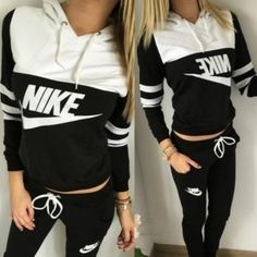 nike black stripe tracksuit via outlet centrale. Click on the image to see more!