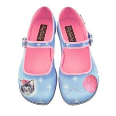 Women's Flat Shoes with Cat Design | Hot Chocolate Design Womens Sussy Cat Mary Jane Flat Multicoloured US ...