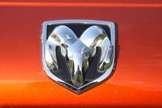 dodge ram logo on orange red