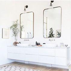 Double vanity.