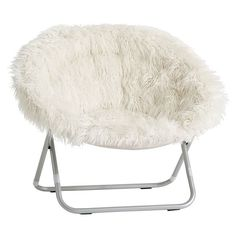 Ivory Furlicious Faux Fur Hang A Round Chair | PBteen