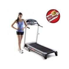 This electric treadmill features 6 Personal Trainer Workouts, a 2-position manual incline and Comfort Cell Cushioning.