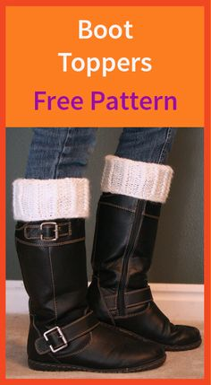 Loom Knit Boot Toppers Free Pattern