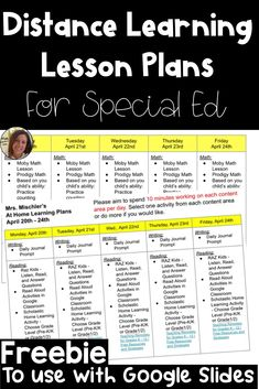 Distance Learning Lesson Plans for Special Ed - Miss Ashlee's Class Special Education Activities, Special Education Classroom, Learning Resources, Physical Education Lesson Plans, Physical Activities, Teacher Resources, Teacher Lesson Plans, Planer, How To Plan