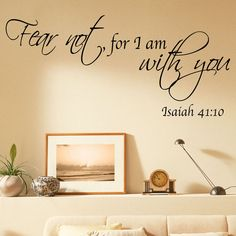 Bible quote vinyl wall art stickers fear not for i am with you decals b2