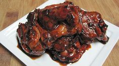Dukan diet Sticky Asian chicken.  This looks tasty and simple.