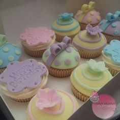 Pastel Birthday Cupcakes for a special lady.