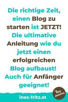 Einen privaten Blog starten oder endlich für dein Unternehmen Bloggen: Geh jetzt endlich in die Umsetzung mit dieser Schritt-für-Schritt-Anleitung! Virtual Assistant, Content Marketing, Get Started, Wordpress, Fritz, Business, Videos, Passive Income, Further Education