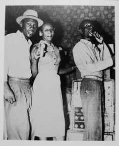 COXSONE DODD WITH HIS MOTHER AND COUNT MATCHUKIE ON THE MIC
