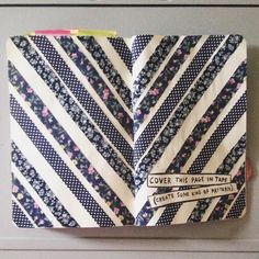 "sammwrecksit: ""Wreck This Journal - Cover This Page In Tape (Create Some Kind Of Pattern) """