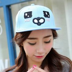 70b9487c1e5 Cute Bear embroidered baseball cap for girls creative Blue snapback caps