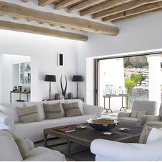 Can Trull is a holiday villa on Ibiza from Blakstad Design Consultants, which conserve the cultural significance of the island in today's architecture. Decor Interior Design, Interior Styling, Interior Decorating, Style At Home, Living Spaces, Living Room, Mediterranean Homes, Luxury Accommodation, Ibiza