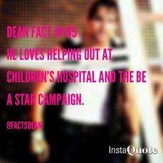 That's what I LOVE about Dean... he gives BACK<3<3<3