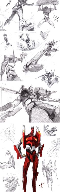 more of unit 02 by ~VBagi on deviantART