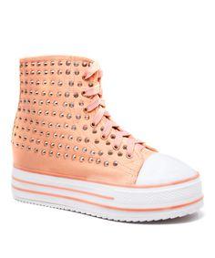 Peach Decker Hi-Top Sneaker
