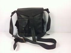 Klone Flying Springbok Beautiful Black Genuine Leather Satchel 1