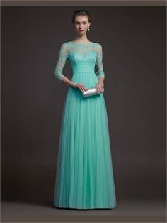 Green Sweetheart Tulle 2014 Prom Dresses APR020059