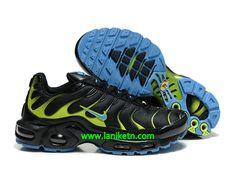 brand new a28e9 95758 Nike Air Max Tn Requie tuned 1 Chaussure De Basket-ball Pour homme Noir    Vert   Bleu