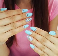 Indigo Gel Polish Aquarius by Indigo Young Team, Emilia Tokarz Kraków #nails #nail #indigo #aztec #summer #spring #babyblue #pastel #blue