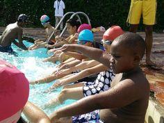 #PrimaryStudents of grade 1 at the #SwimmingPool today. #Swimming #LearningIsFun #AGSGurgaon