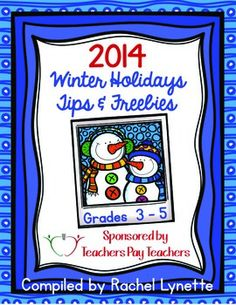 Happy Holidays and welcome to the Fourth Annual Teachers Pay Teachers Winter Holidays Ebook! 50 amazing TpT sellers have collaborated to create this gift for you. Each beautiful page includes a holiday teaching tip and a link to a holiday freebie! So sit back and get ready to download.