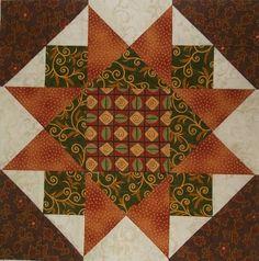 Chock-A-Block Quilt Blocks: Morning Star Variation pattern
