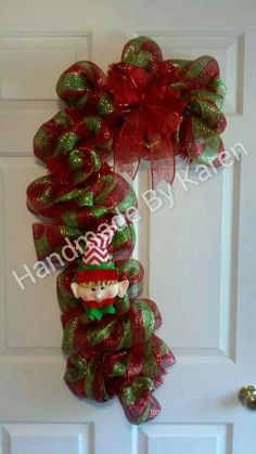 Candy cane with elf