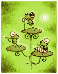 """Rapsodias de verano"" by Fabo. Cute frog band."