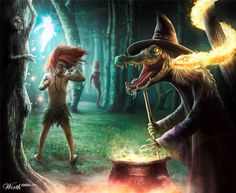 Cuca the witch, Boitata the fire snake, Comadre Florzinha the little fairy, Curupira the runner and the mocking Saci