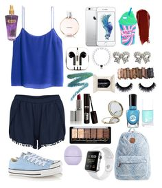 """""""Chilling"""" by cute-and-stylish ❤ liked on Polyvore featuring H&M, VILA, Converse, Billabong, PhunkeeTree, Everest, M&Co, Henri Bendel, Urban Decay and Sally Hansen"""