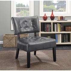 cortesi home chicco grey wood fabric linen armless accent chair