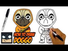Learn how to draw Doggo from Fortnite in this easy step-by-step drawing tutorial. If you enjoyed this video then check out the link below with more drawing t. Yoda Drawing, Batman Drawing, Skin Drawing, Easy Cartoon Drawings, Disney Drawings, Easy Drawings, Drawing For Beginners, Drawing For Kids, How To Draw Avengers