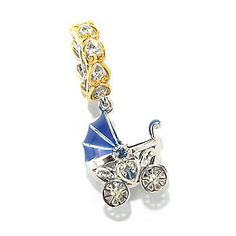 Gems en Vogue Sapphire & Enamel Baby Carriage Drop Charm - 136-029 Retail Value: $148.00 EVINE Price: $113.50 Holiday Price: $ 96.43 Save: $17.07 (15% off) or  6 ValuePay®: $16.07 Shipping & Handling: $0.00 Select Color: PINK Gems en Vogue Sapphire & Enamel Baby Carriage Drop Charm