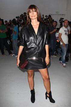 Paris Fashion Week Spring 2014: Parties & Front Row - Anthony Vaccarello Front Row, Caroline de Maigret