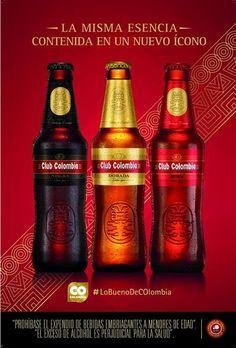 Club Colombia, una de las mejores cervezas del mundo y la cerveza premium de Colombia con la que los colombianos celebran sus logros. Es una cerveza tipo Lager, con tres variedades: Dorada o Clásica, Roja y Negra, cada una con características especiales.