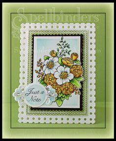 A clean and simple card with the new Card Creator dies from @Spellbinders and @Flourishes,llc Jan Marie stamps.   Click on image to find blog post with quick video tutorial.