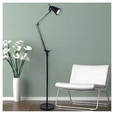 Trademark Global Lavish Home 6 Foot LED Adjustable Floor Lamp - Black : Target