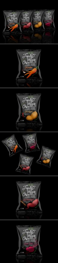 Freaky Veggie Chips is a Concept That Wants to Combat Food Waste — The Dieline | Packaging & Branding Design & Innovation News