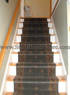 Attirant Straight Staircase Stair Runner Installations   Traditional   Staircase    New York   By The Stair Runner Store   Creative Carpet U0026 Rug LLC