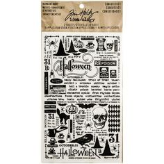 Search: halloween paper > Curiosities Halloween Rub Ons - Idea ology - Tim Holtz: A Cherry On Top