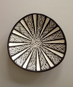 Unusual Carstens Tonnieshof Ceramic Triangular Plate 50s W Germany. €60.00, via Etsy.