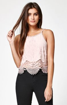 Hooked on Crochet Embroidered Tank Top that I found on the PacSun App