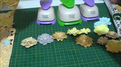 Flor Vintage em papel de scrap
