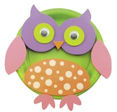Creatology® Owl Activity Plate Kit- forget the kit, diy with scrap paper!