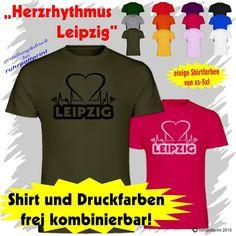 T-Shirt  Herzrhythmus Leipzig  individuell gestaltbar mit Flexdruck