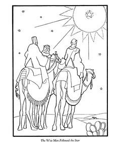 Bible Printables: The Christmas Story Coloring Pages - Three Wise Men