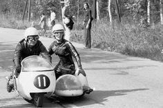 Ruben Bjarnemark & Marianne Kjelmodin-Hansen, BMW 500, Finnish GP, Imatra, 1970.